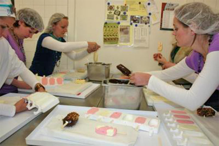 Worshop ijsjes maken bij IJshoeve Ruitenbeek